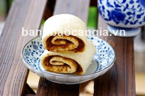 Bánh bao Cần Gia chỉ  lạ mắt cùng món bánh bao cuộn nhân mặn